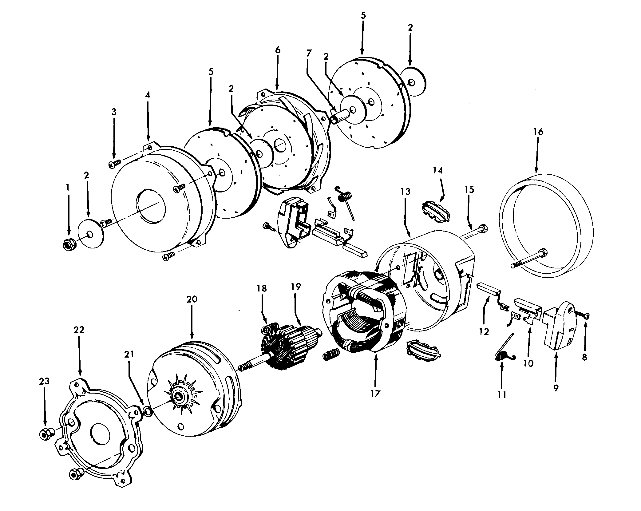 Hoover S3261--- motor assembly diagram
