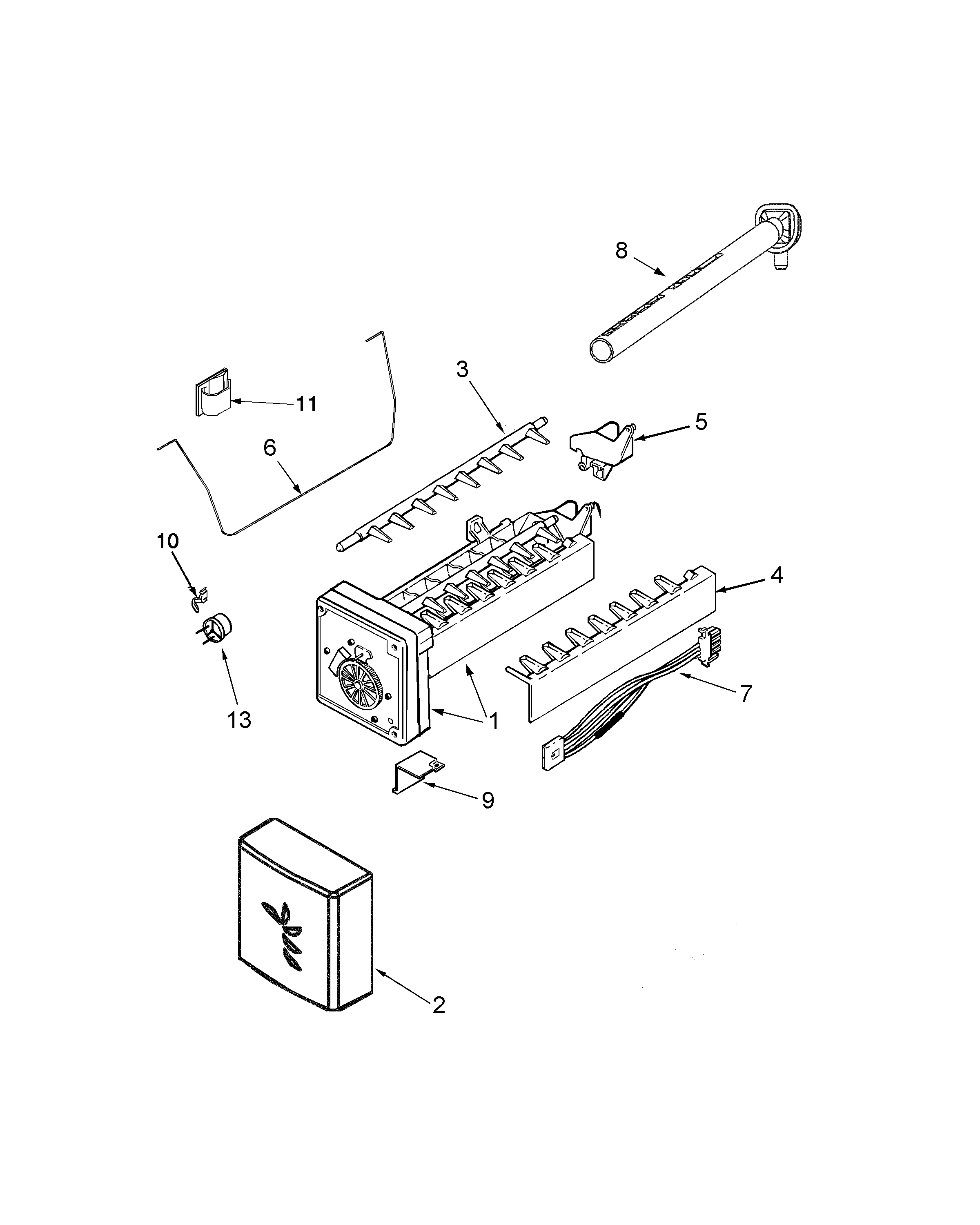 Maytag GSD2615HEW ice maker diagram