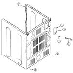Maytag MDG9206BWW cabinet-rear diagram