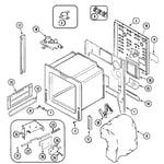 Maytag MES5870AAQ body diagram