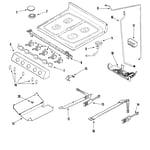 Jenn-Air JGR8875QDB gas controls diagram