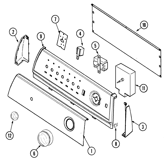 Maytag PYE2300AYW control panel diagram