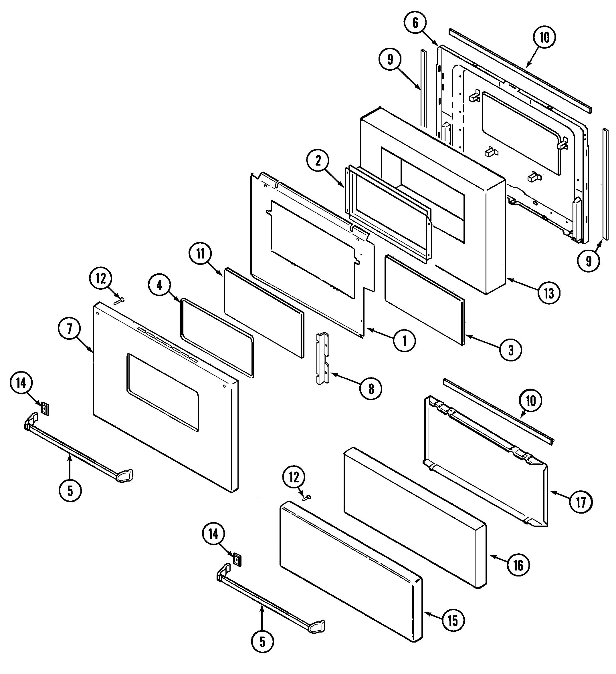 Door  Upper  U0026 Lower  Diagram  U0026 Parts List For Model