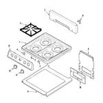 Magic Chef CPL1100ADQ top assembly diagram