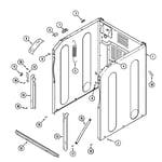 Maytag MAH3000AWQ cabinet-front (mah3000awq) diagram