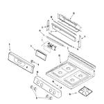 Amana AGR5712ADZ control panel/top assembly diagram