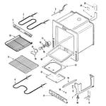 Maytag MERH752BAW oven/base diagram