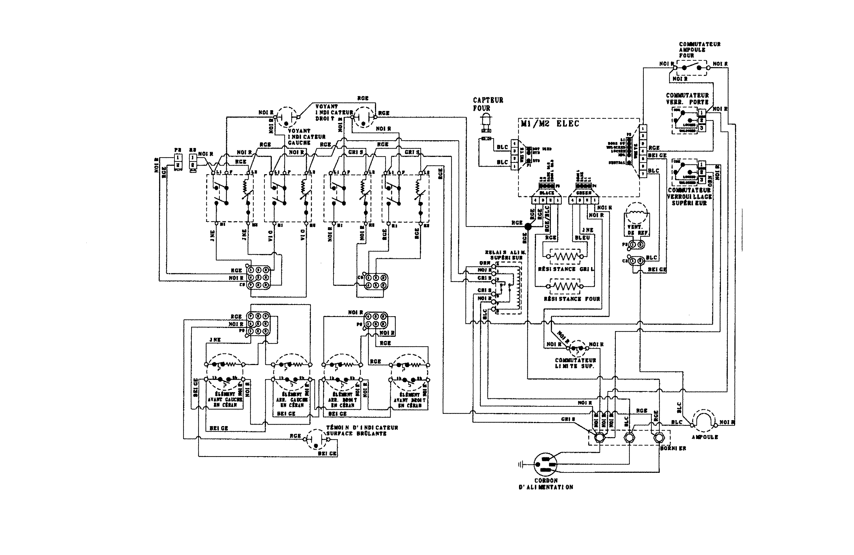 Magic Chef CES3759BCS wiring information (french) diagram