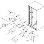 Maytag MSD2651HEQ crisper assembly (series 50) diagram