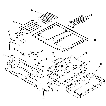 Jenn-Air JES9750BAB control panel/top assembly diagram