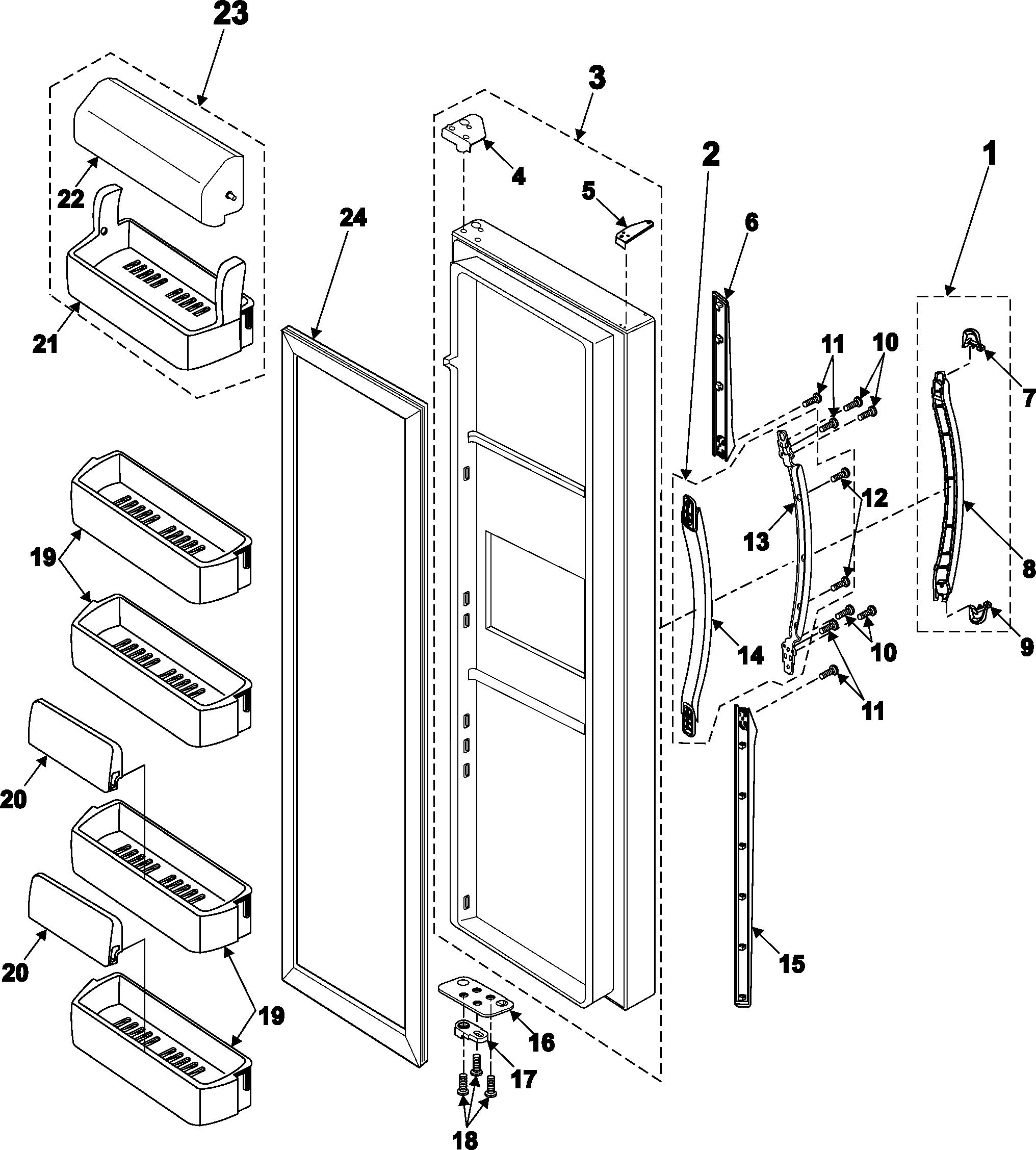 Samsung Samsung Refrigeration Parts Model Rs2533vqxaa