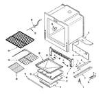 Maytag MGS5775BDB oven/base diagram