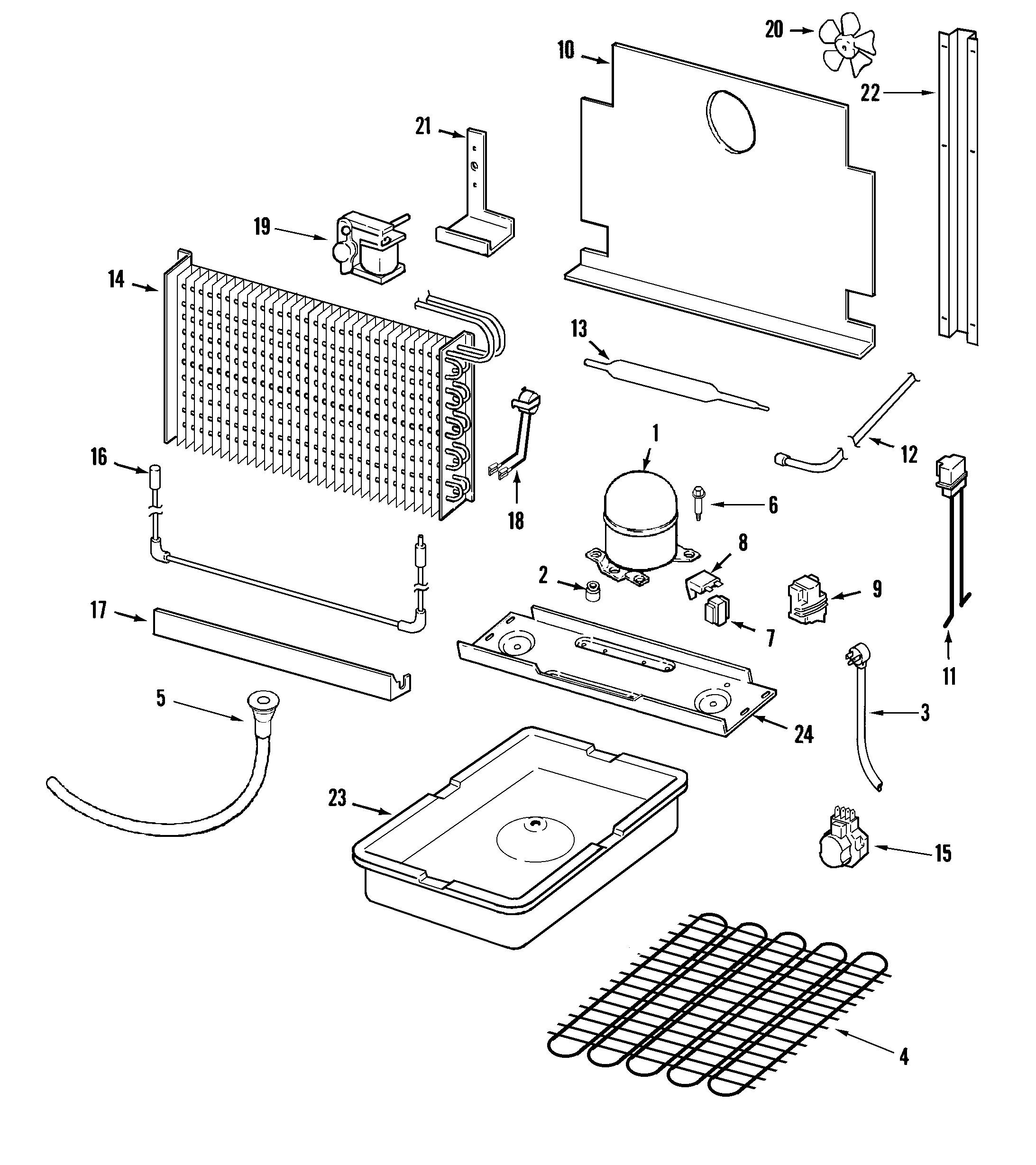 Amana  Amana Upright Freezer  Unit compartment & system