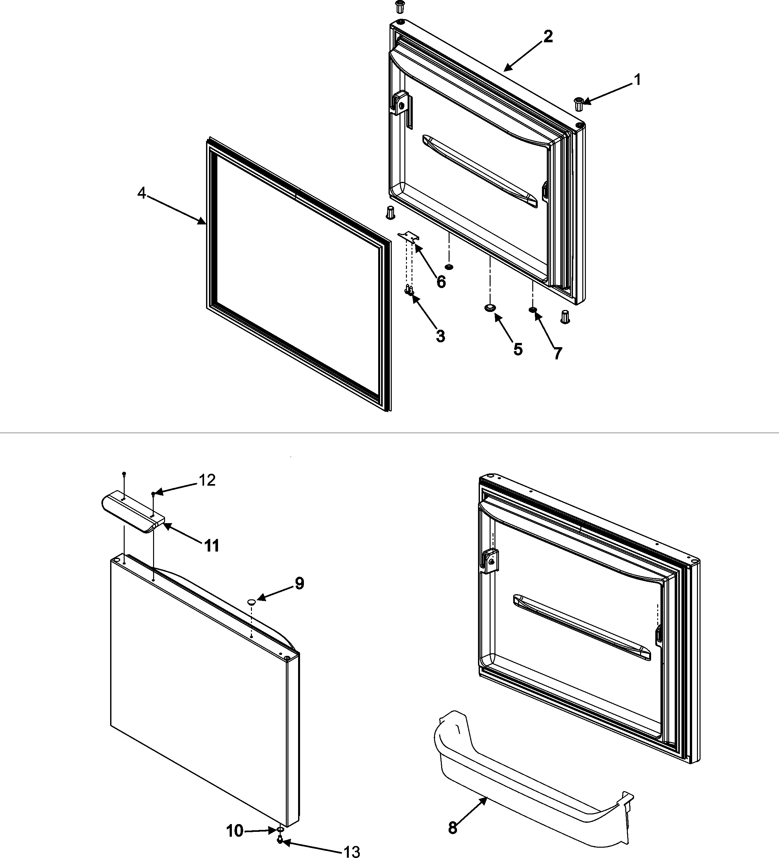Crosley  Crosley Refrigeration  Freezer door