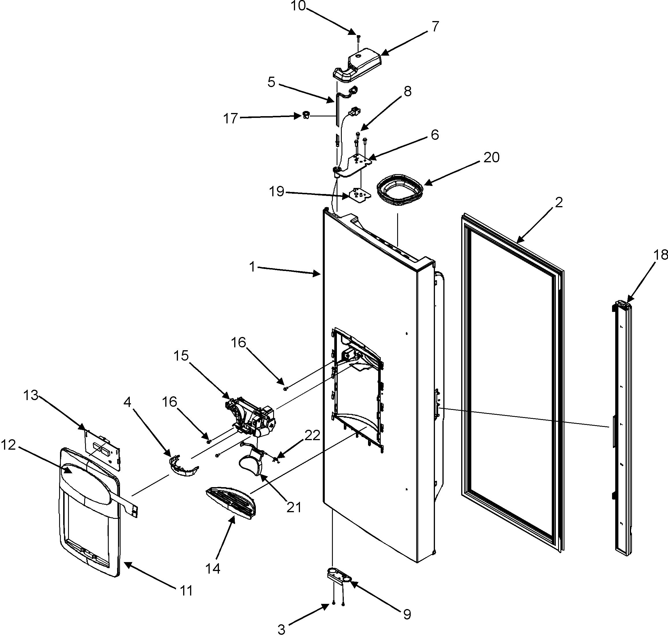 Maytag Fridge Diagram Not Lossing Wiring Magic Chef Gas Furnace Control Model Mfi2568aew Bottom Mount Refrigerator Genuine Parts Rh Searspartsdirect Com Circuit