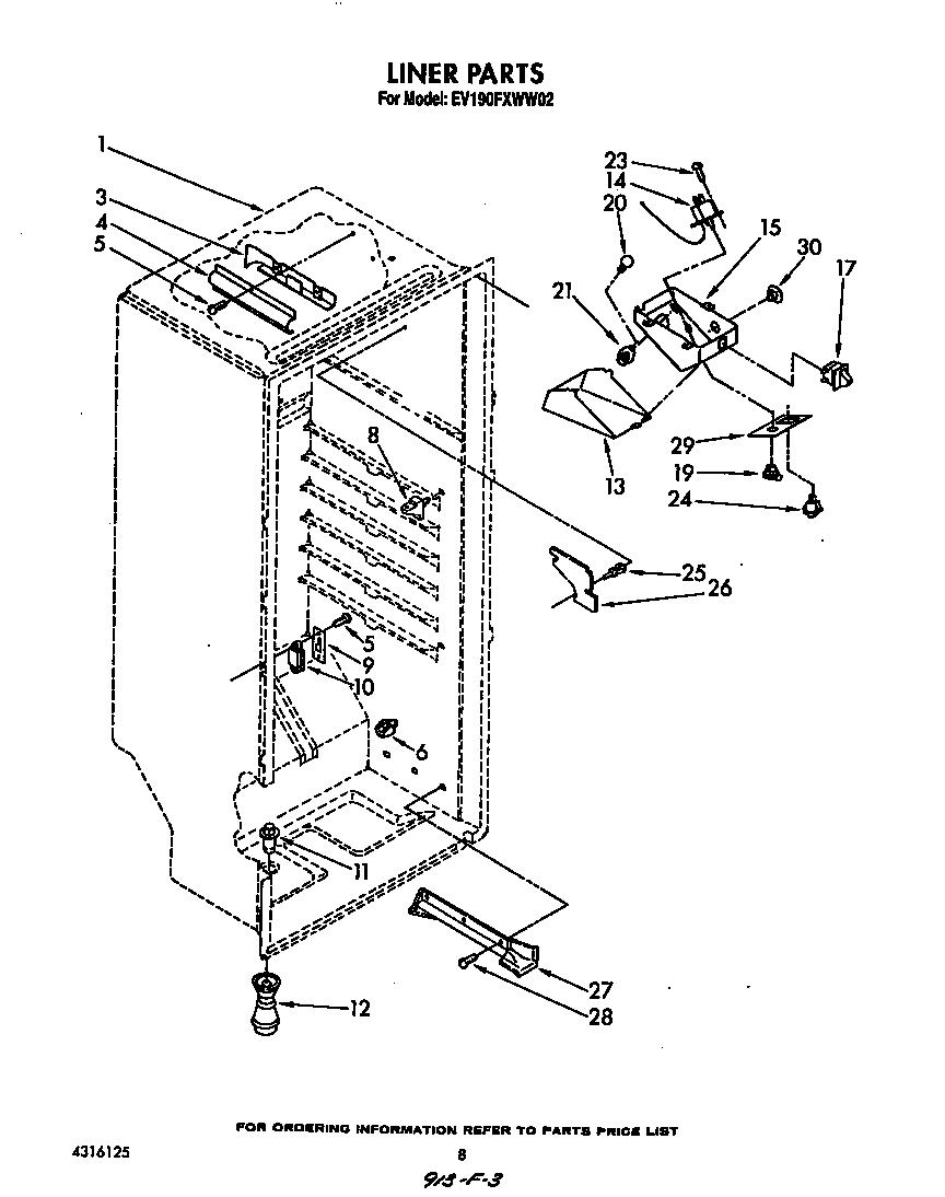 Whirlpool  Freezers  Liner