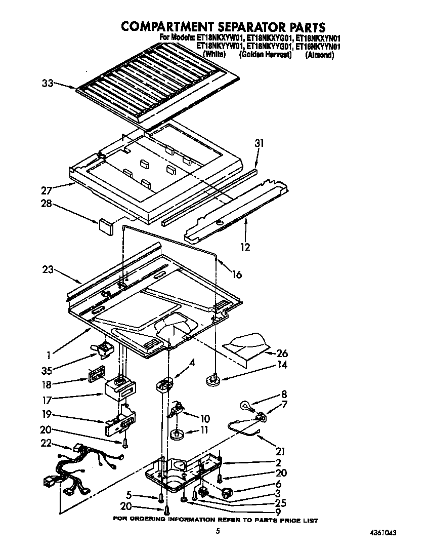 Whirlpool ET18NKYYW01 compartment separator diagram
