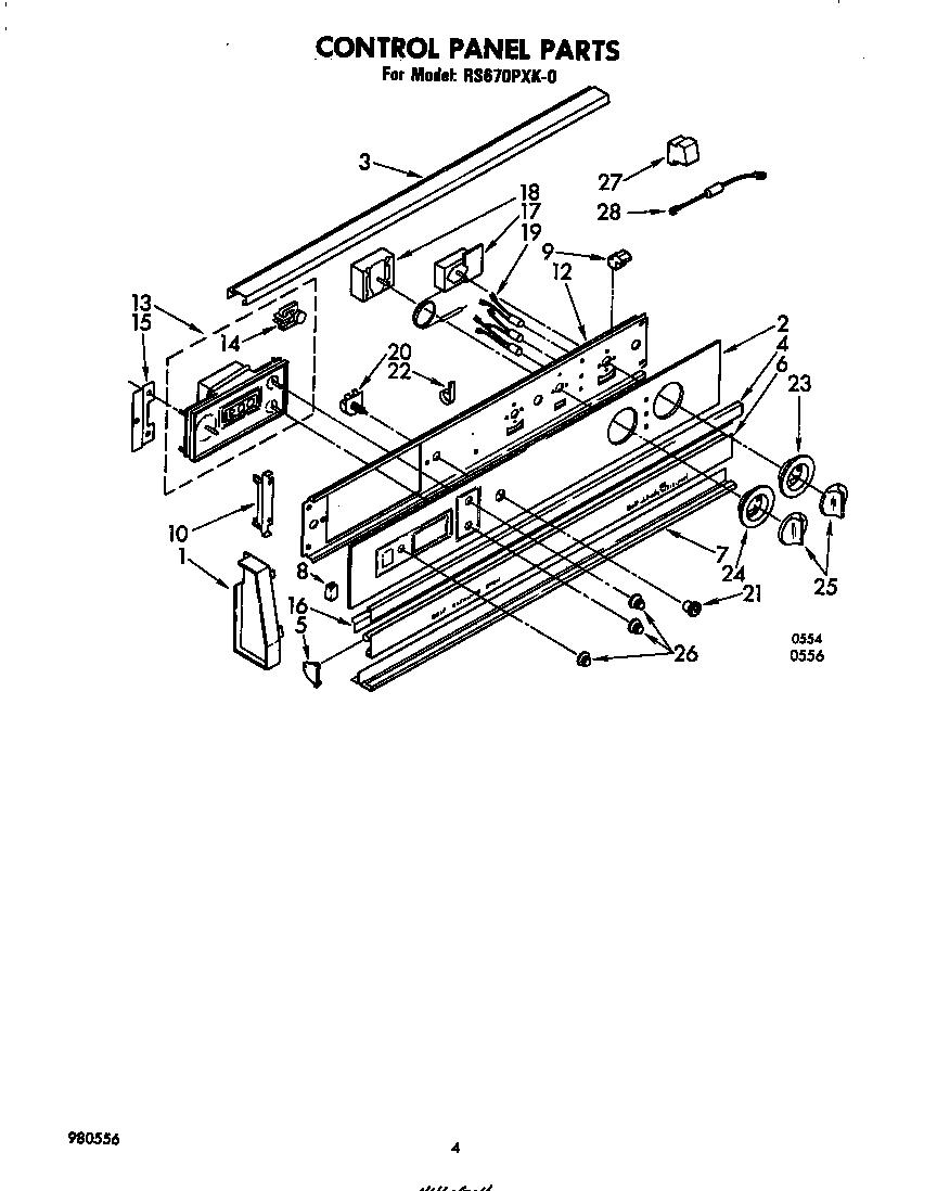 whirlpool range rs670pxk wiring diagram