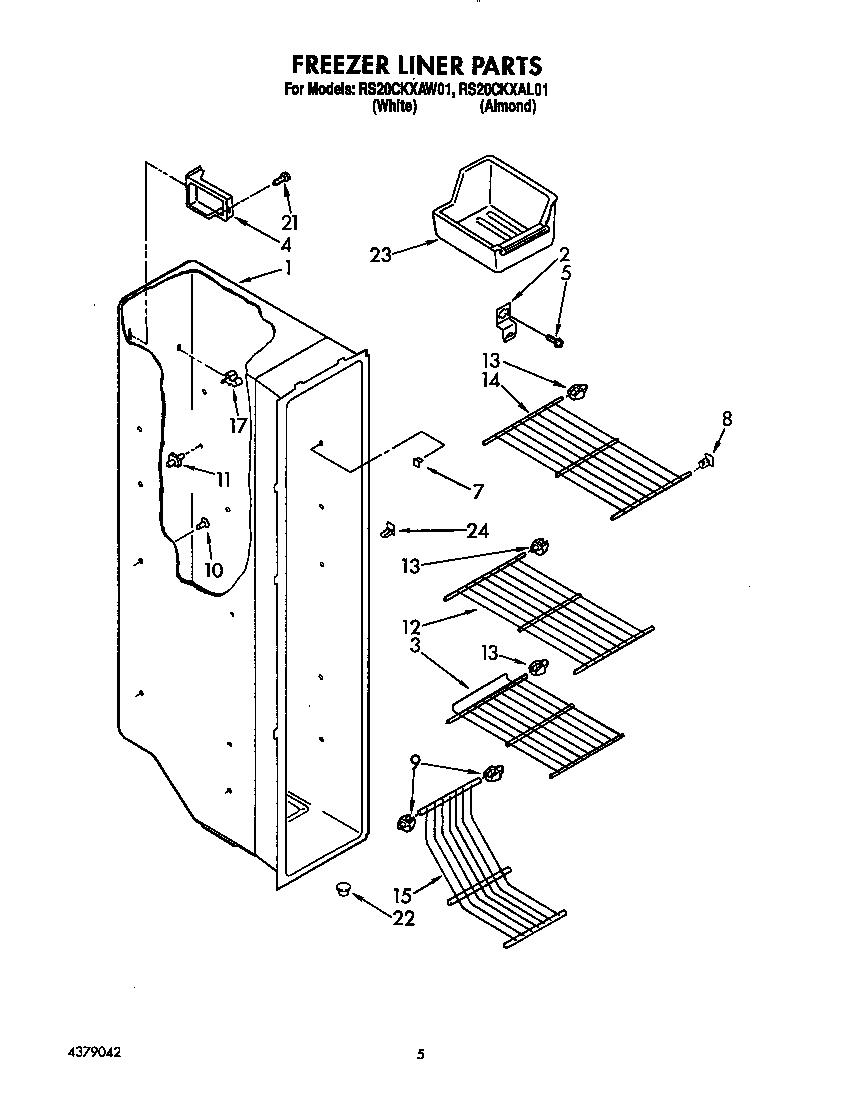 Roper  Refrigerator  Freezer liner