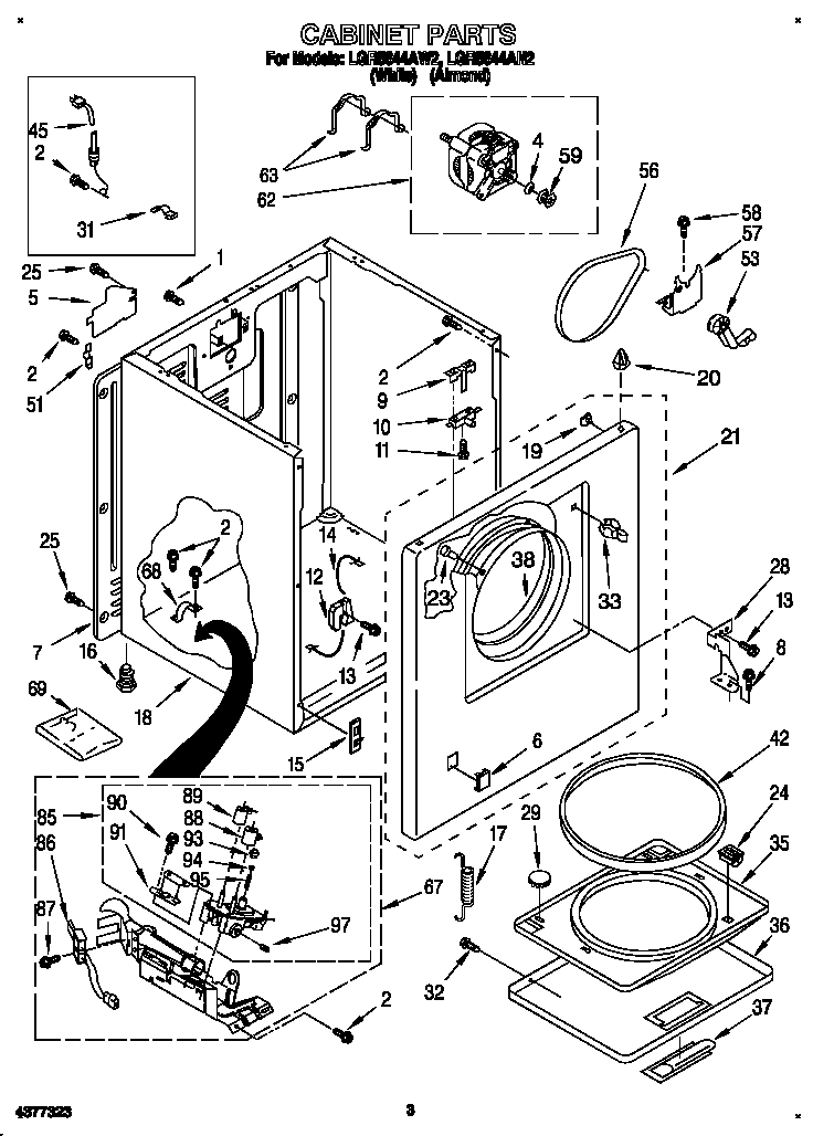 Looking for Whirlpool model LGR5644AW2 dryer repair