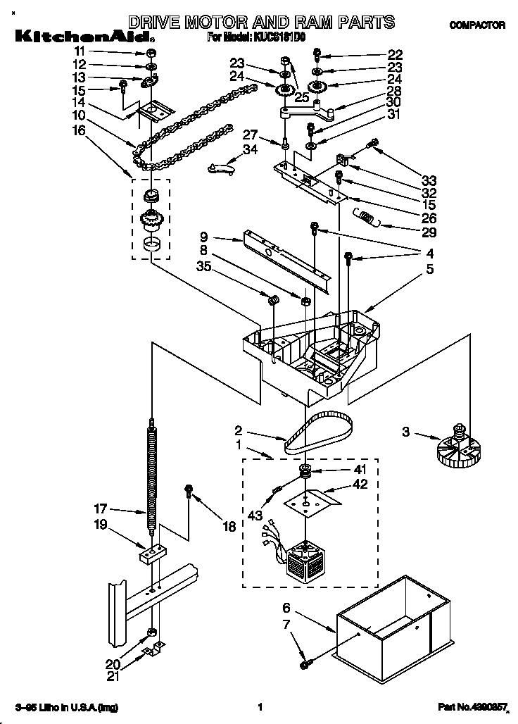 kitchenaid compactor parts model kucs181d0 sears partsdirect : kitchenaid compactor parts diagram - findchart.co