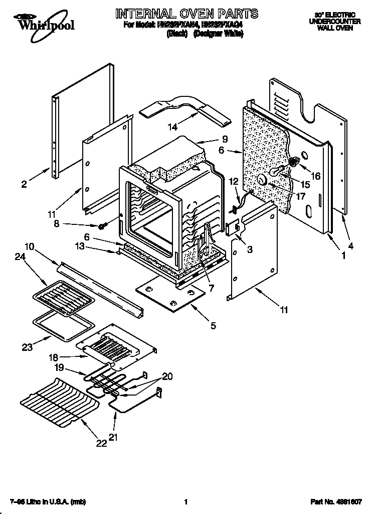 Whirlpool RB262PXAB4 internal diagram