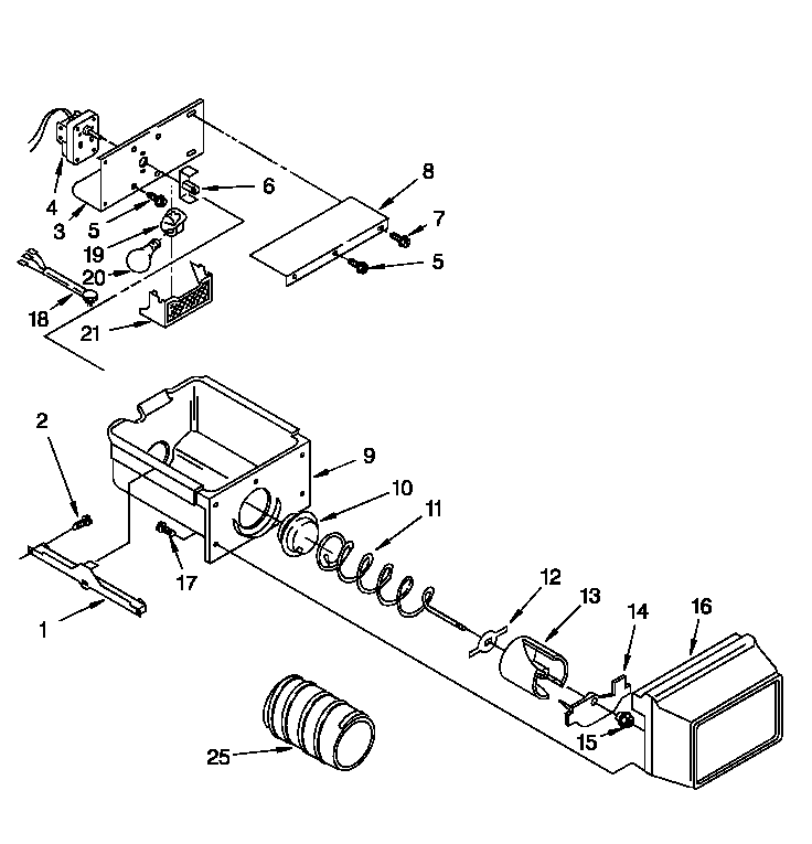 Roper  Refrigerator  Motor and ice container