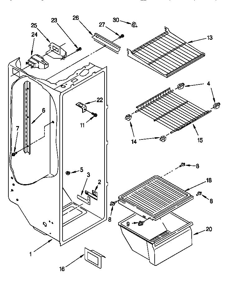 Roper  Refrigerator  Refrigerator liner