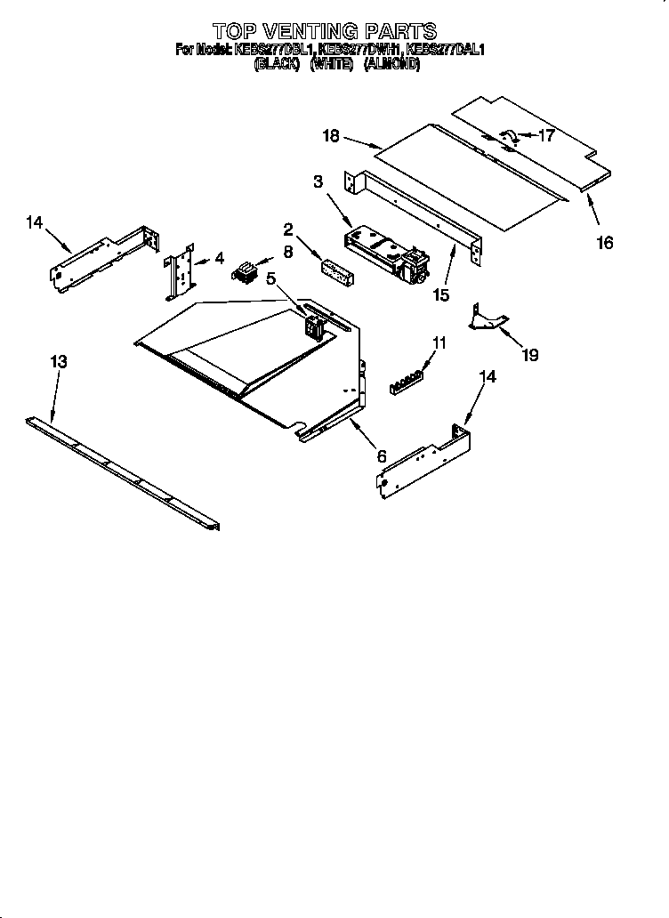 kitchenaid kebs277dal1 top venting diagram