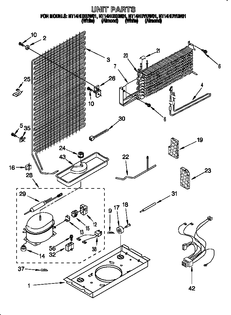 Roper RT14HDXDN01 unit diagram
