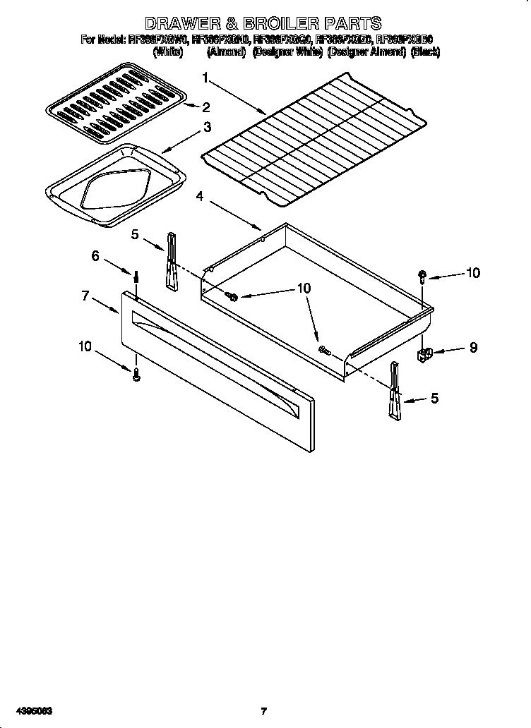 Whirlpool Electric Range Drawer  U0026 Broiler Parts