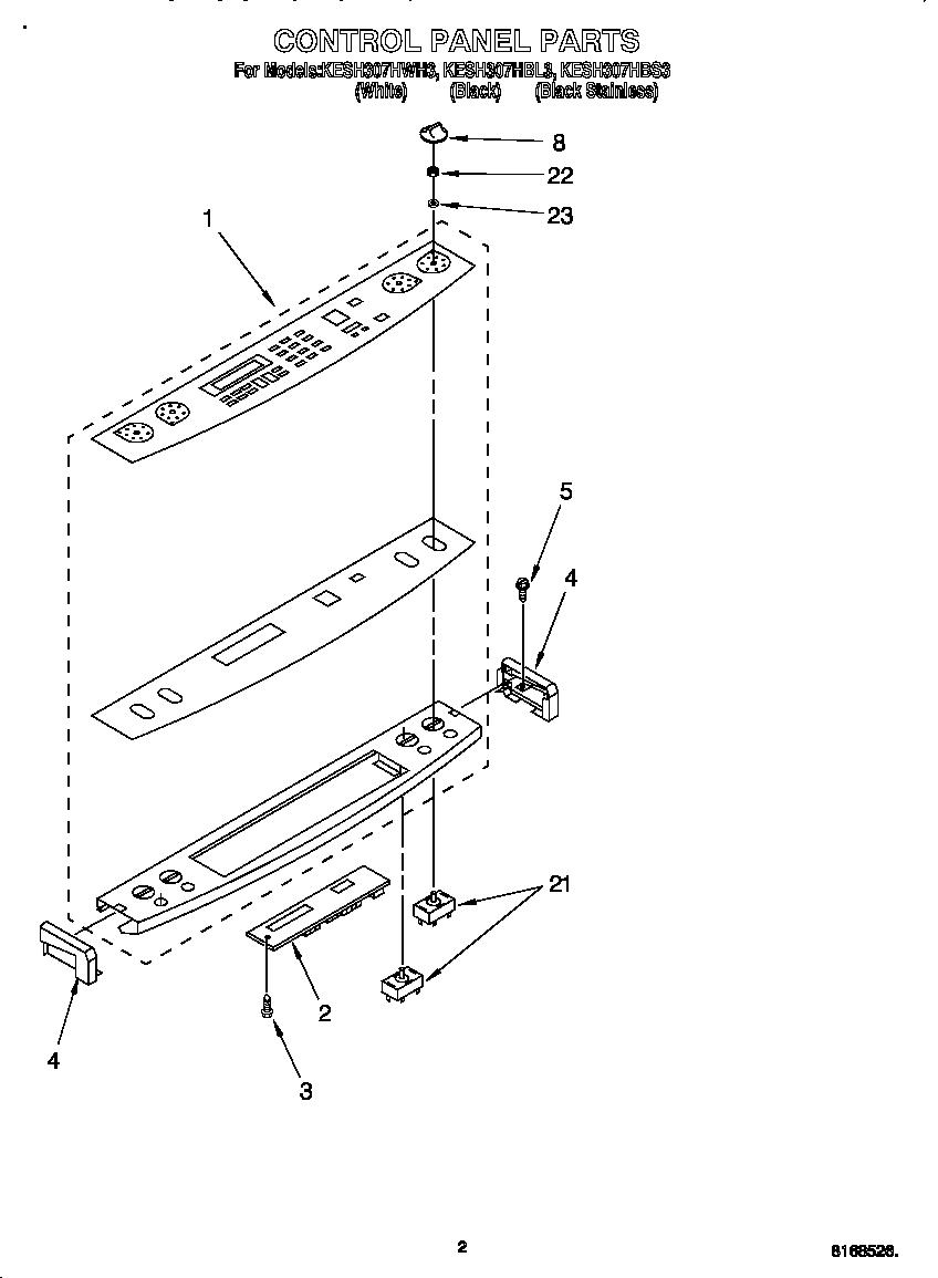 Kitchenaid  Electric Slide-In Range  Control panel