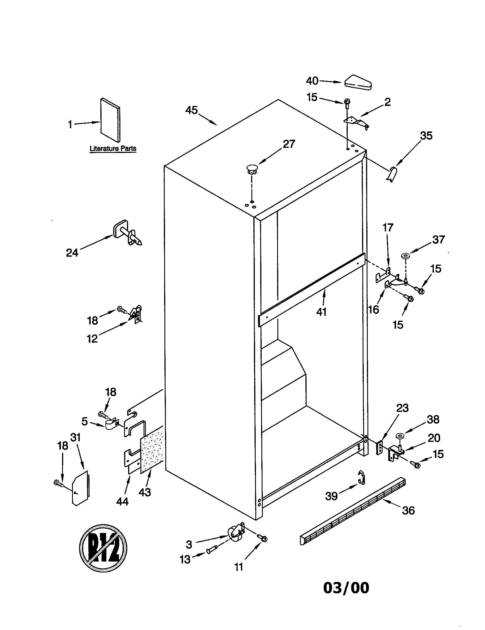 Whirlpool  Top Mount Refrigerator  Cabinet