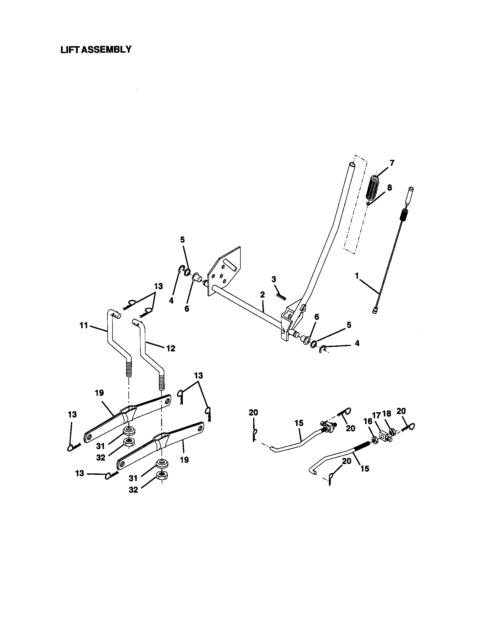 Craftsman 917270923 lift assembly diagram