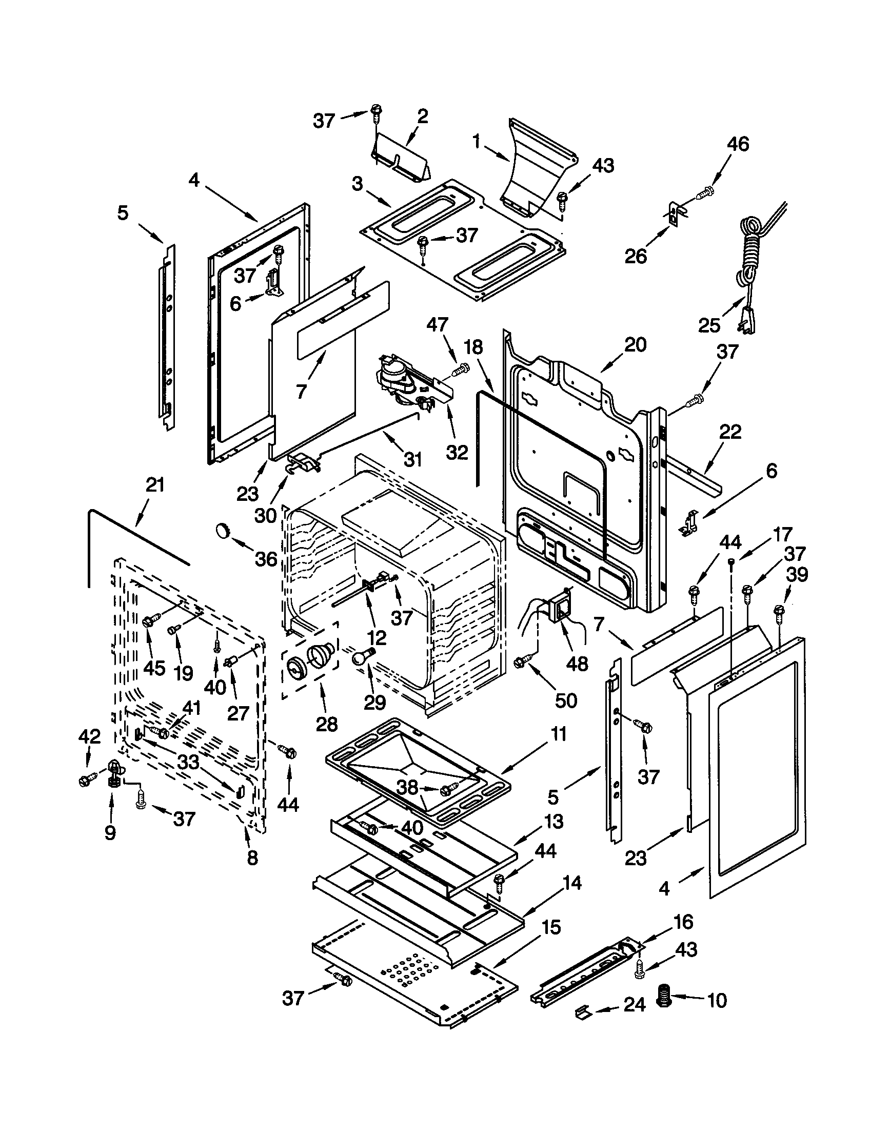 Kenmore 66575801001 chassis diagram