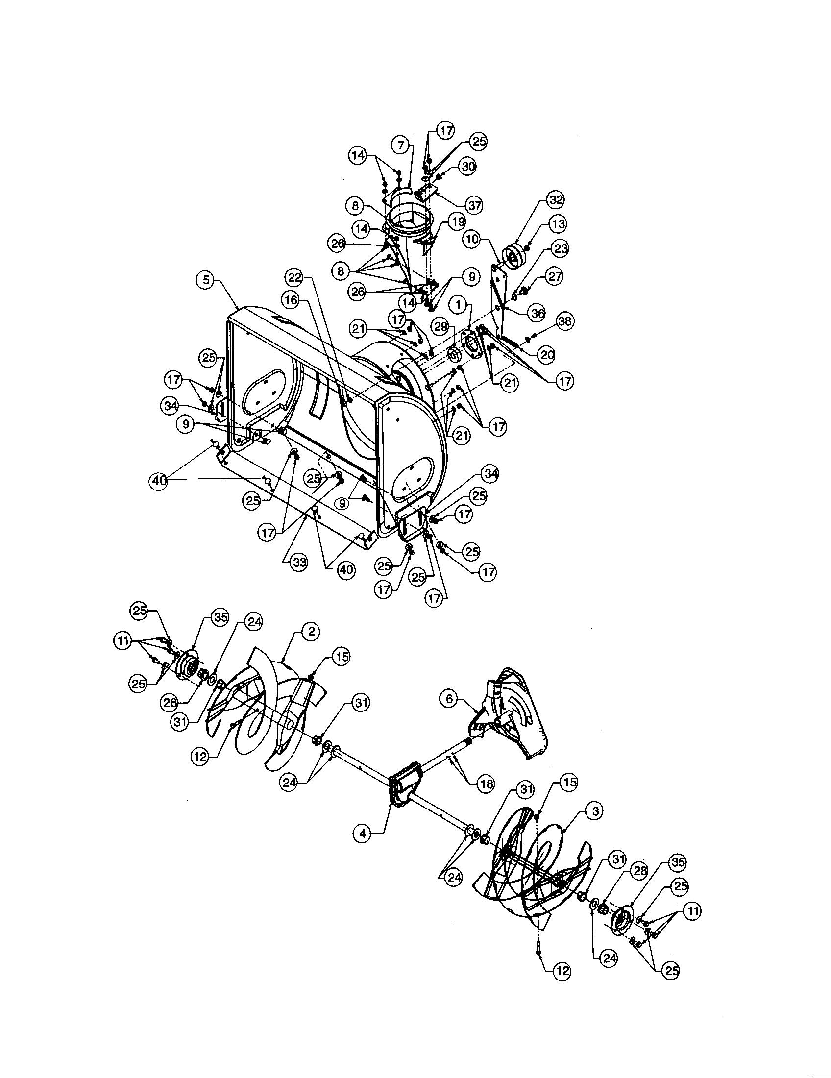Craftsman  Snow Thrower  Spiral housing