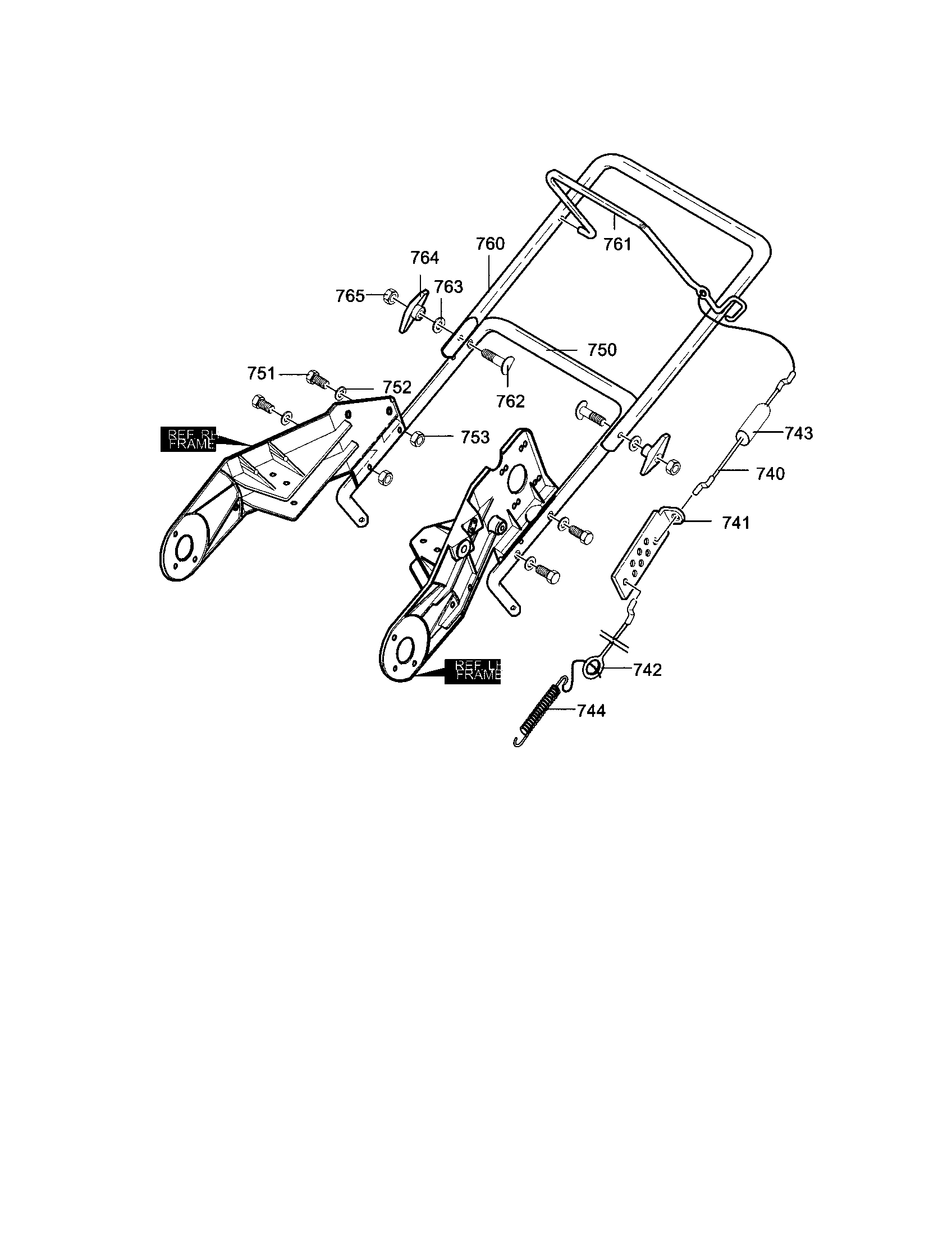 Craftsman    Handle assembly