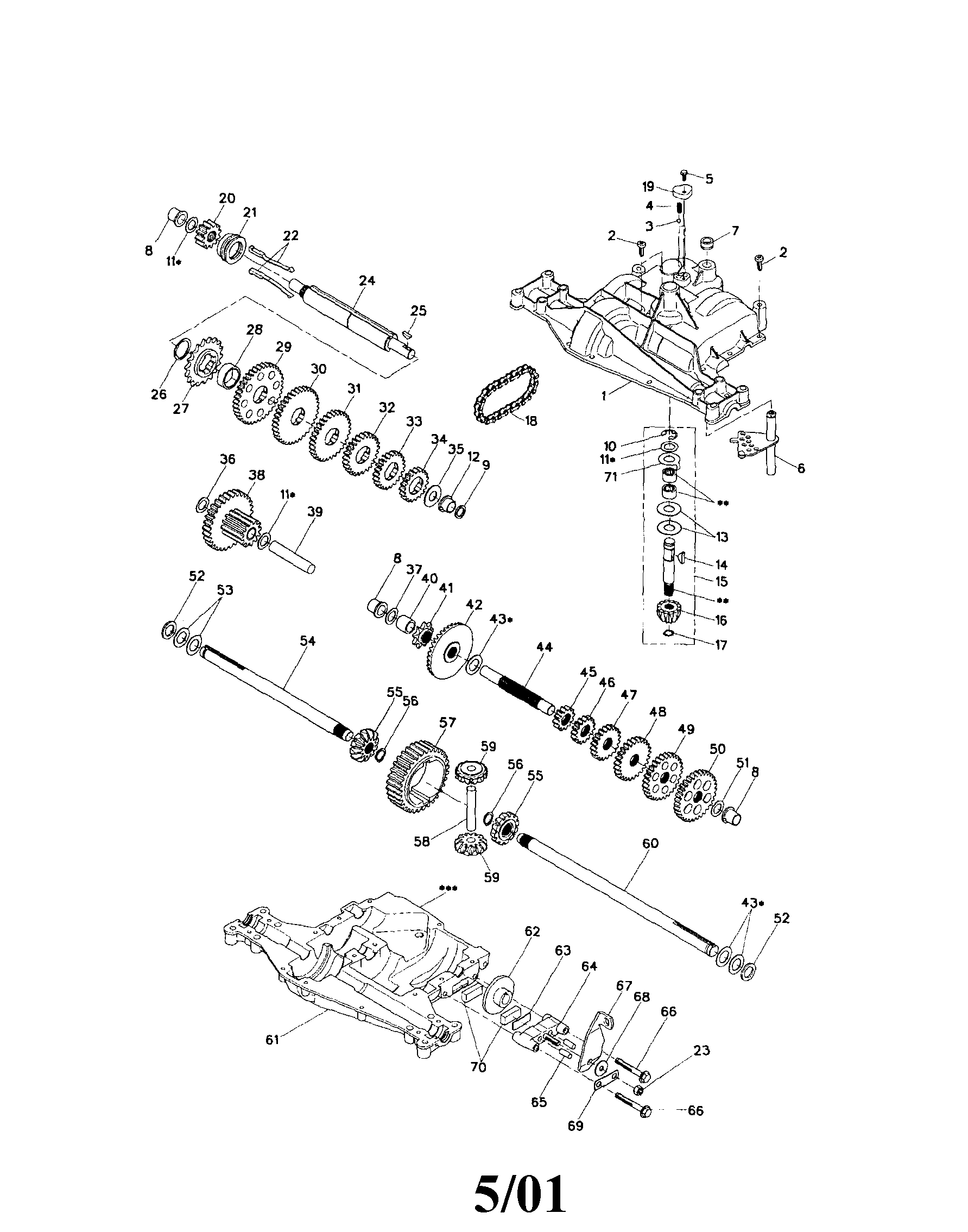 Footedana 4360-140 dana transaxle diagram