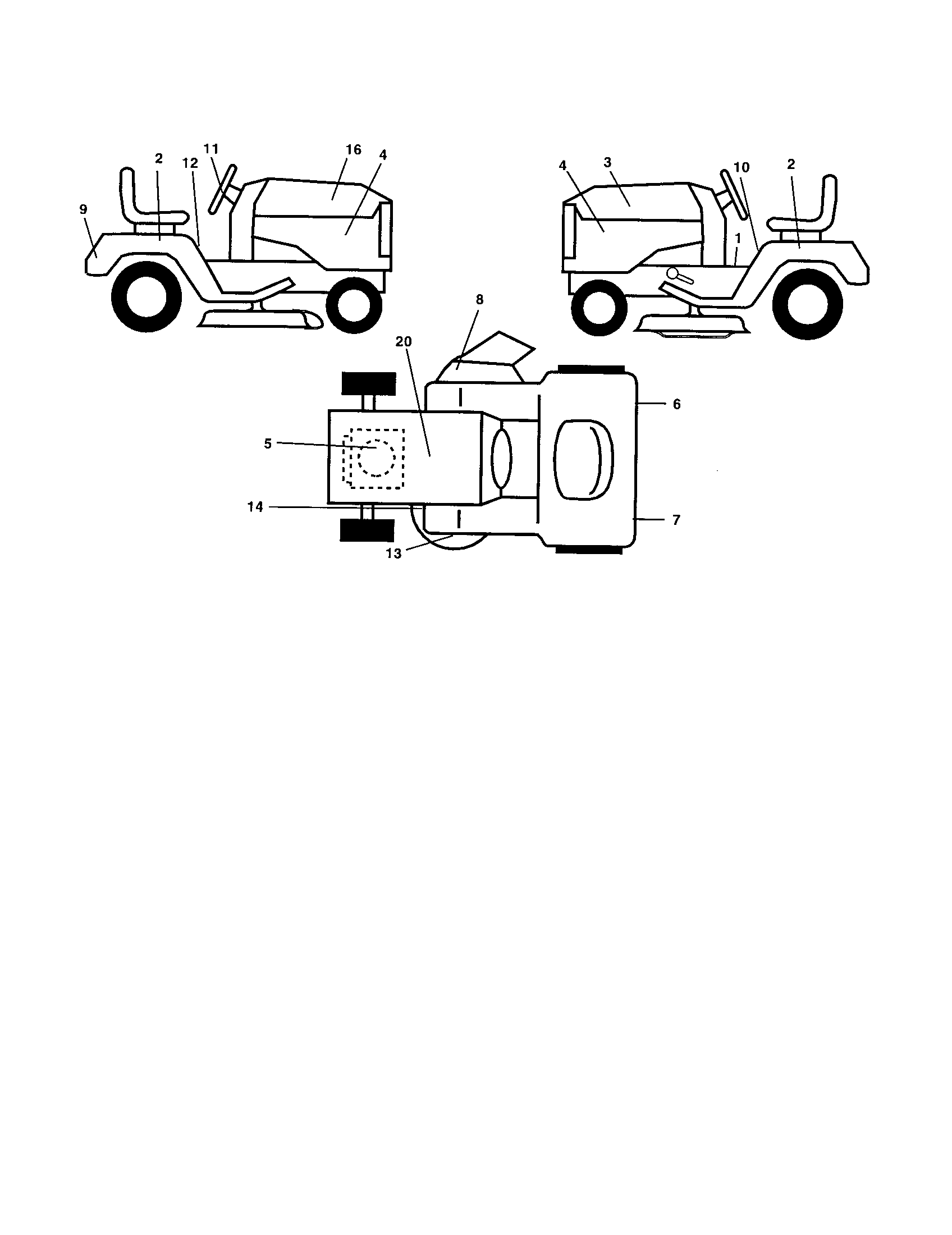 Poulan  Tractor  Decals