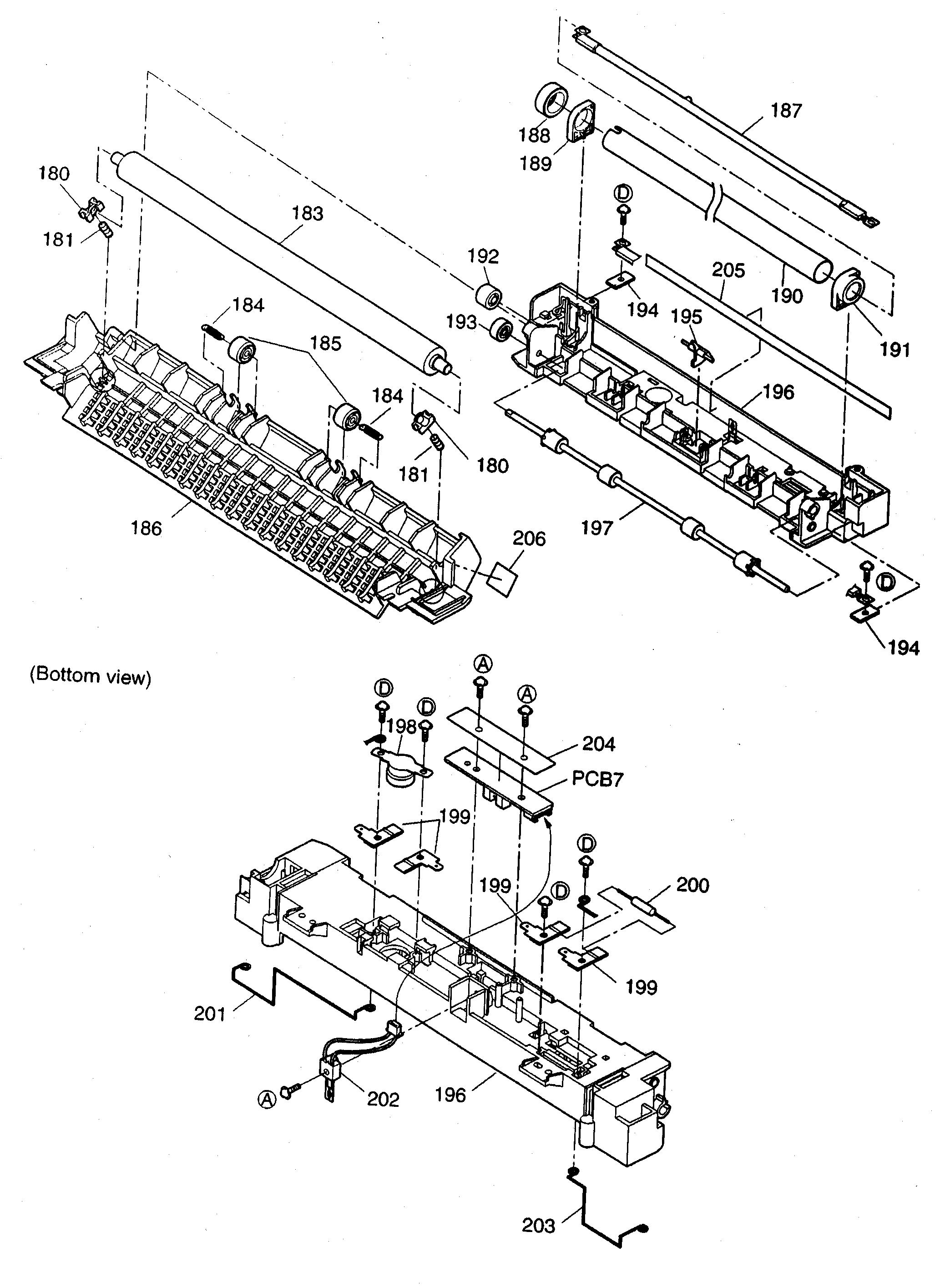 fuser block diagram  u0026 parts list for model kxflm551 panasonic