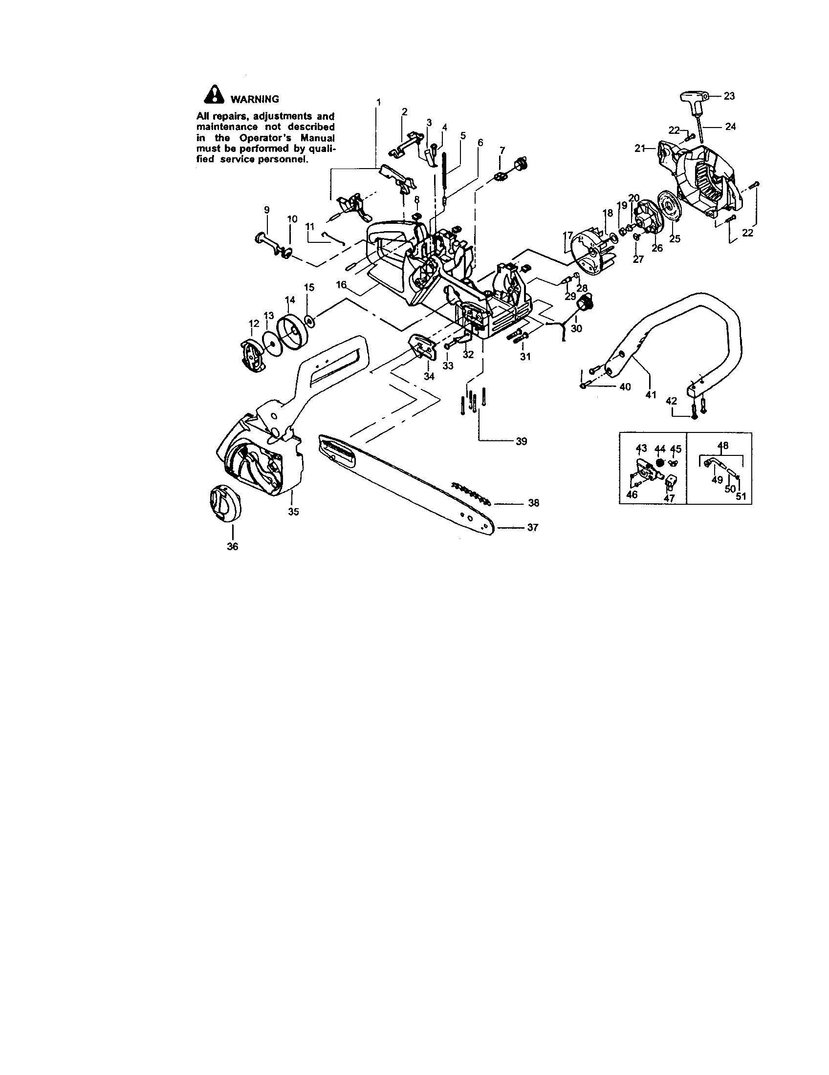 Craftsman  Chainsaw   Parts