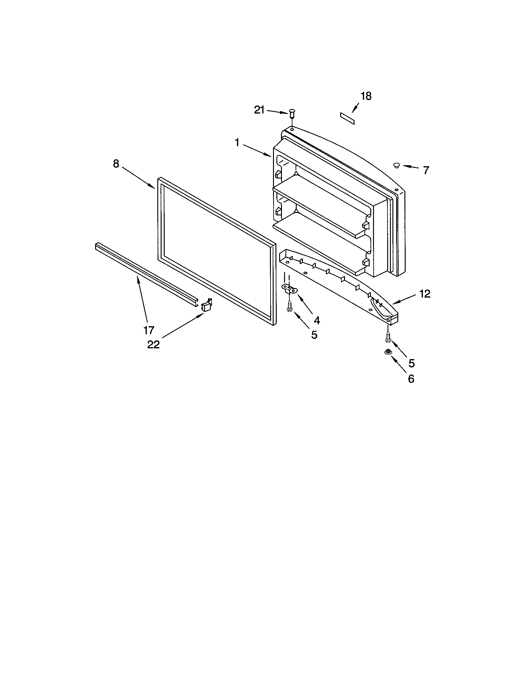 Kenmore 10672993201 freezer door diagram