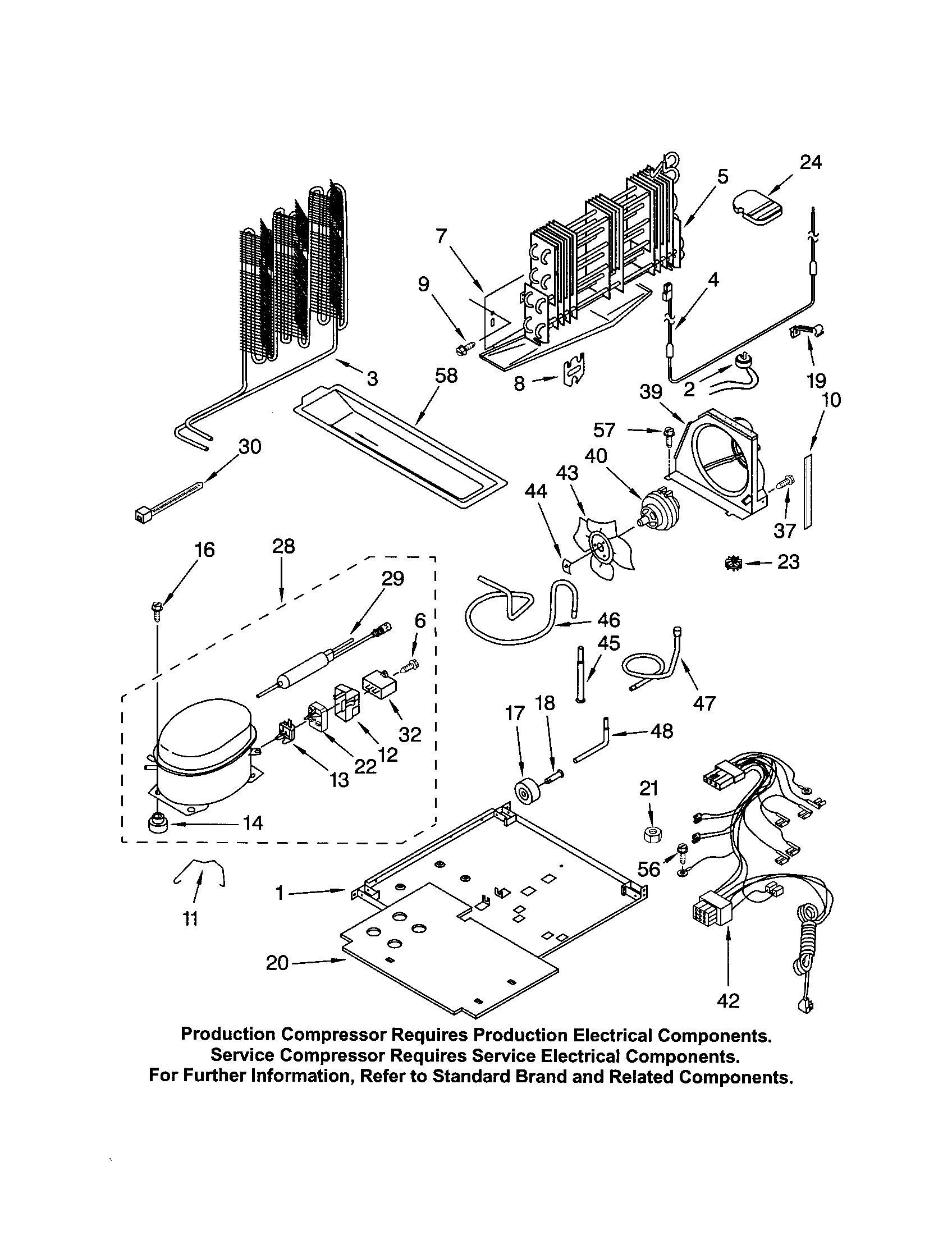 Kenmore 10672993201 unit diagram