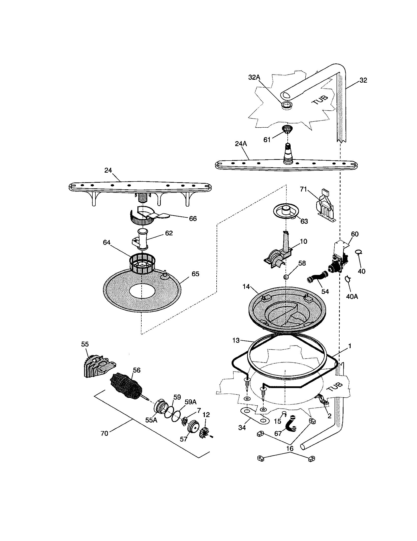 Frigidaire Gallery Dishwasher Parts Diagram Jangan Lupa