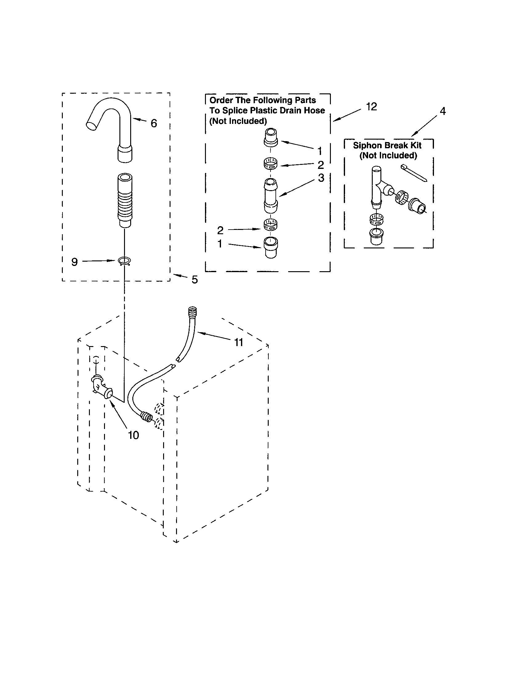 Kenmore 11088762793 washer water system diagram