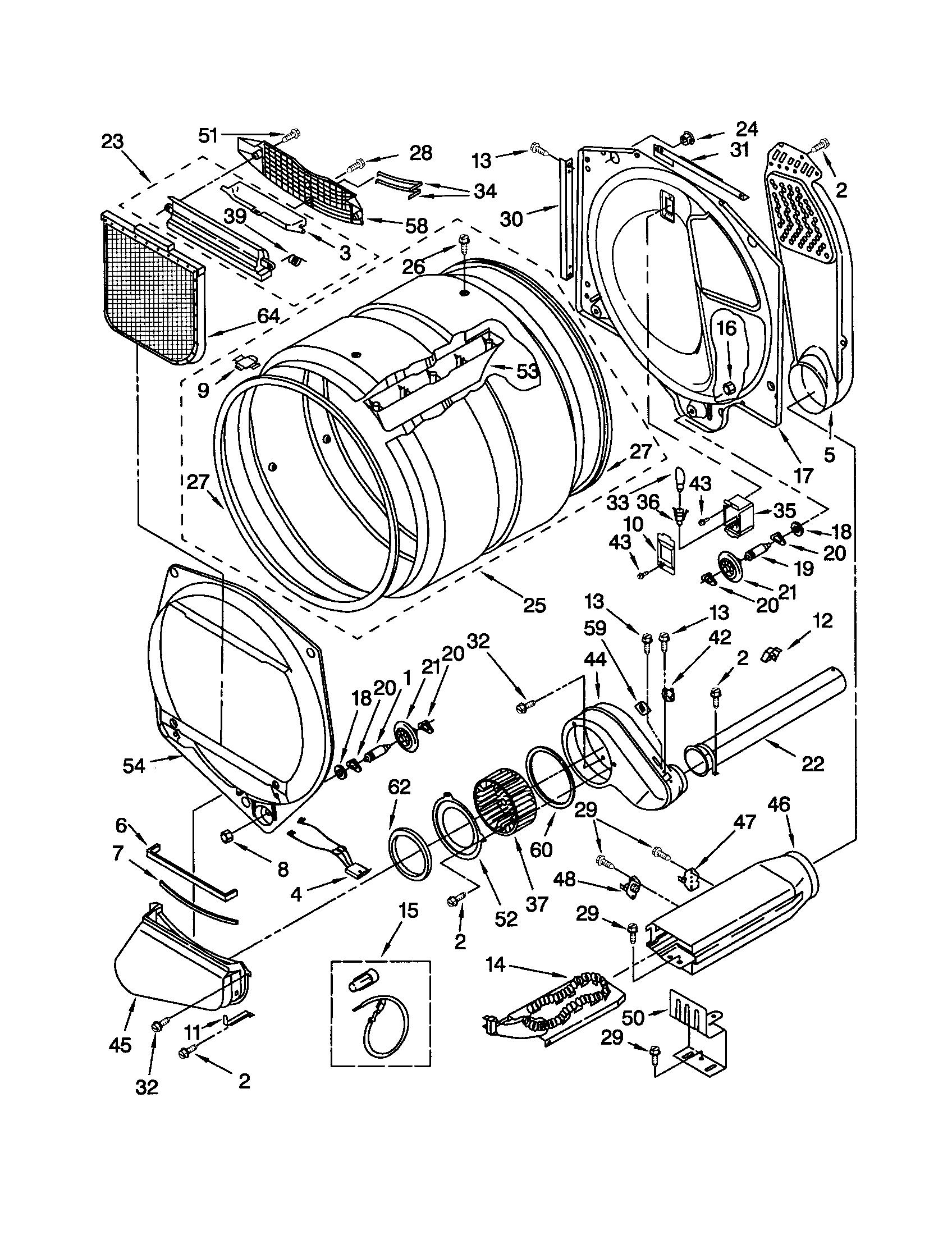 kenmore elite he3 dryer wiring diagram