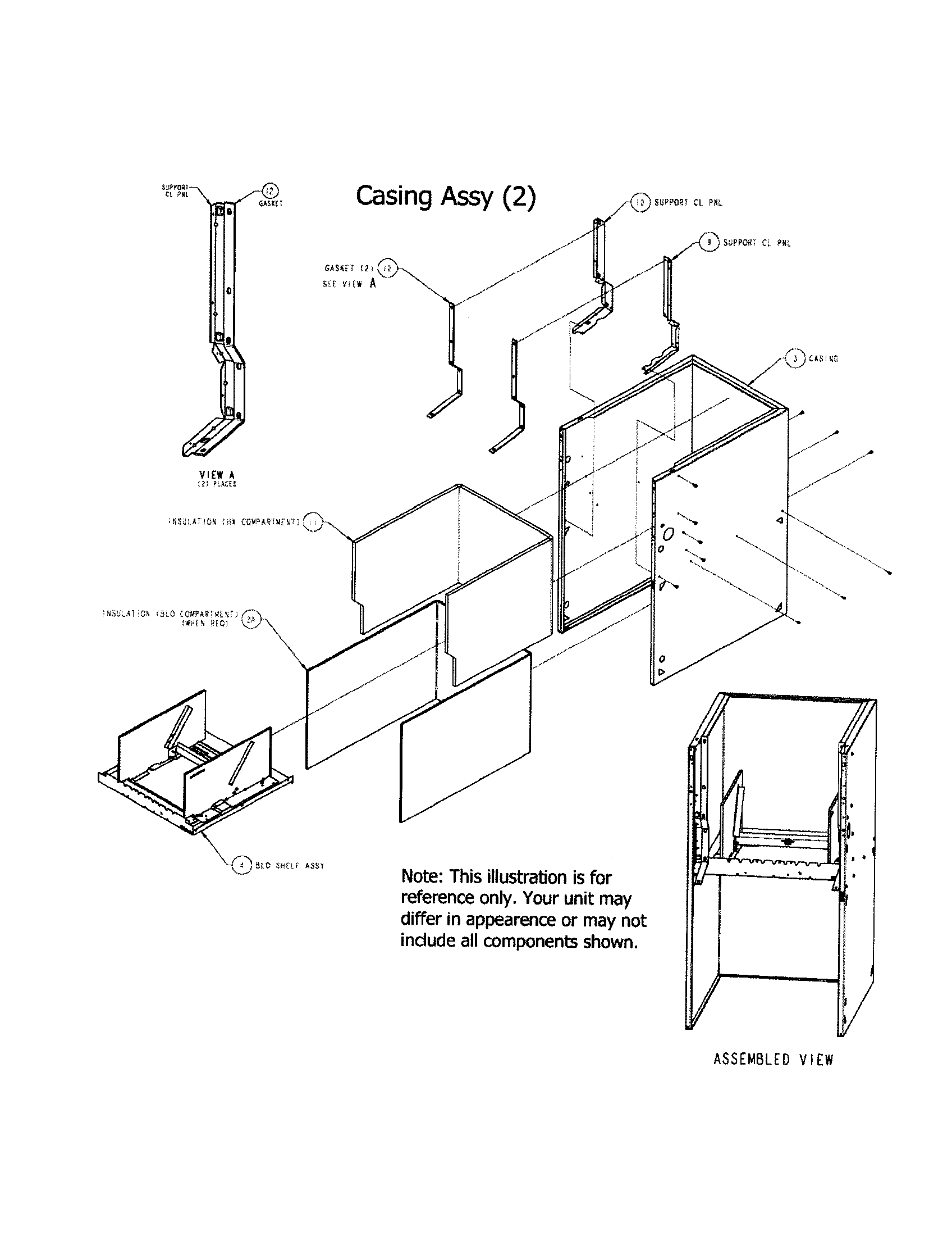 Carrier  Furnace  Casing assembly