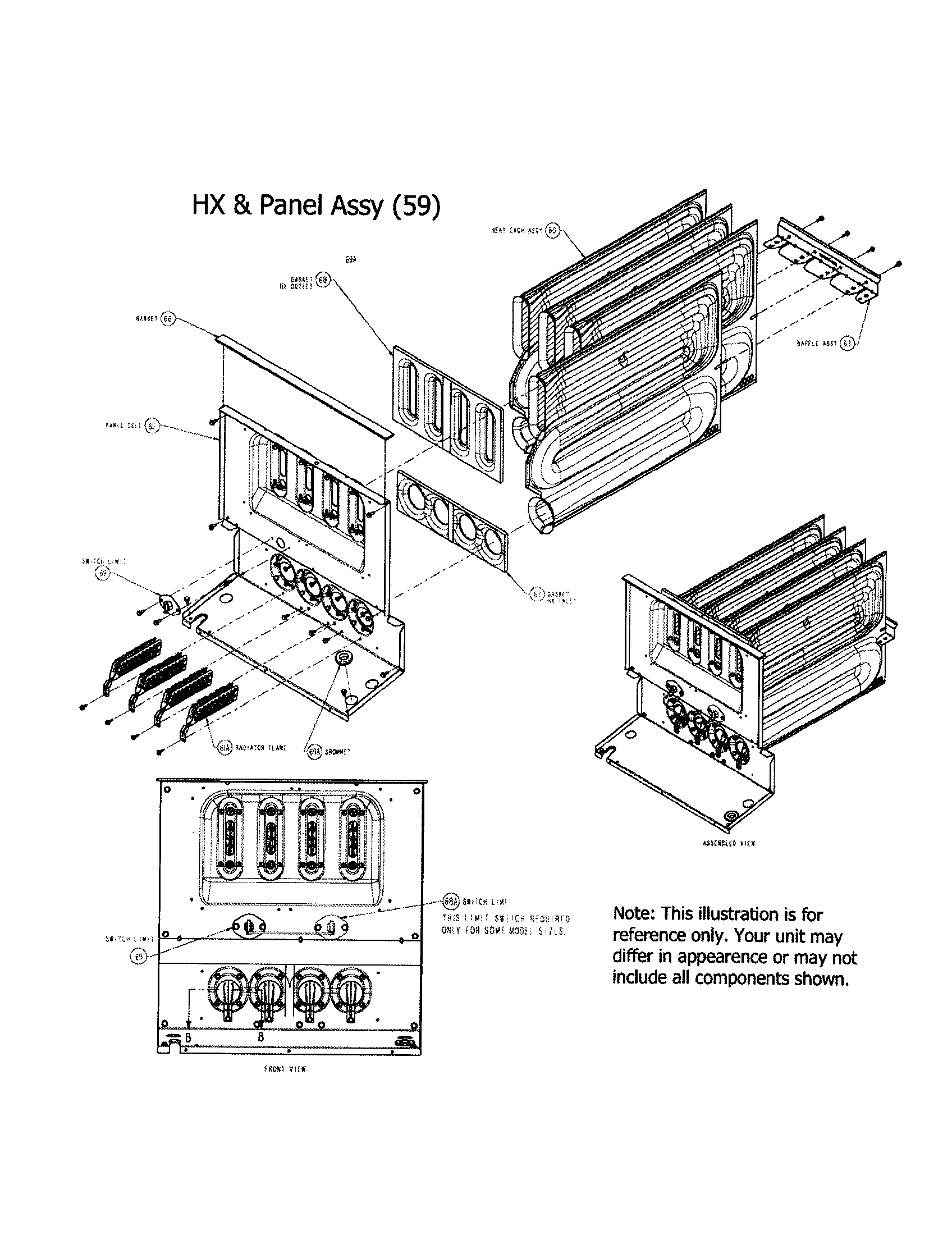 Carrier  Furnace  Hx and panel assembly