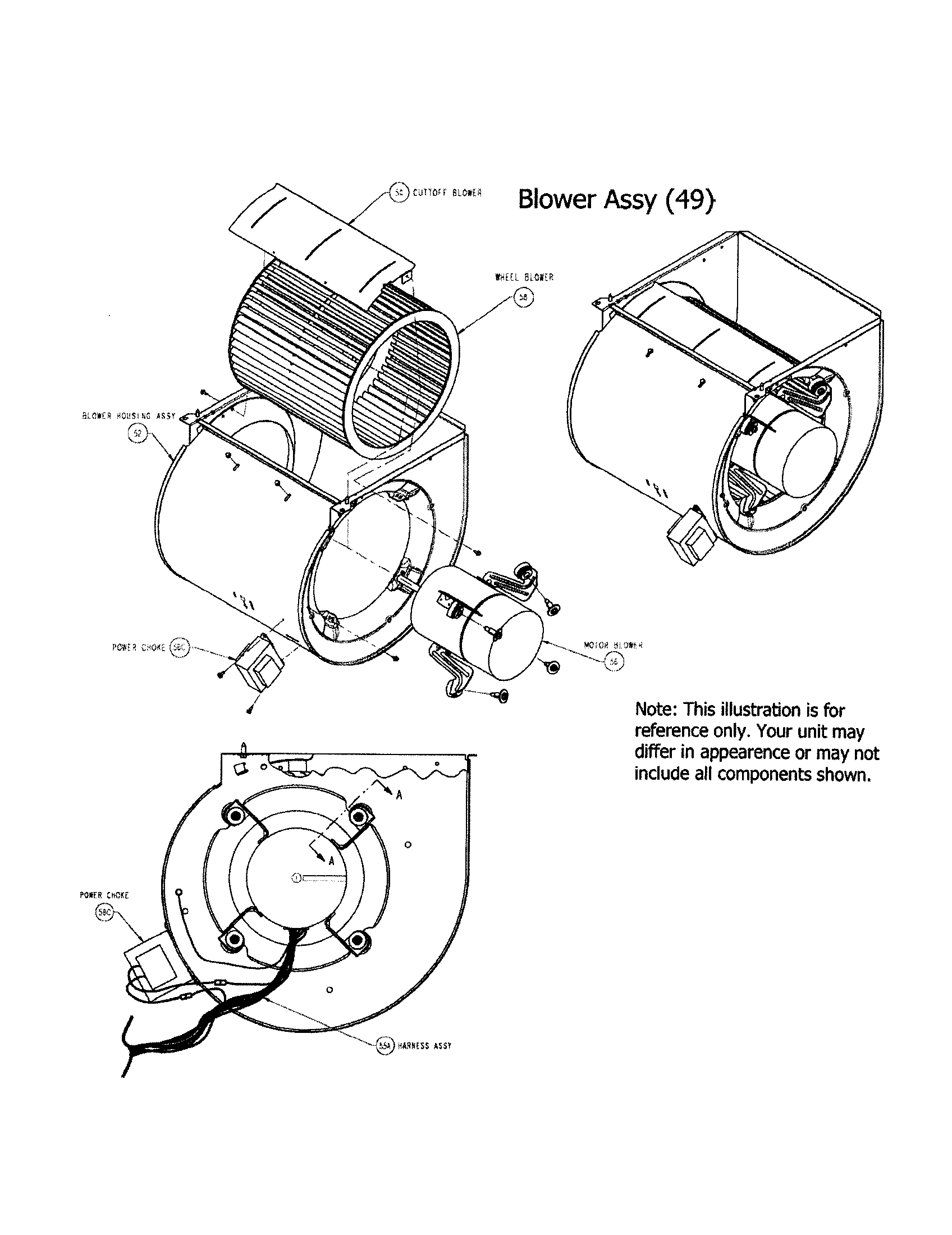 Carrier  Furnace  Blower assembly