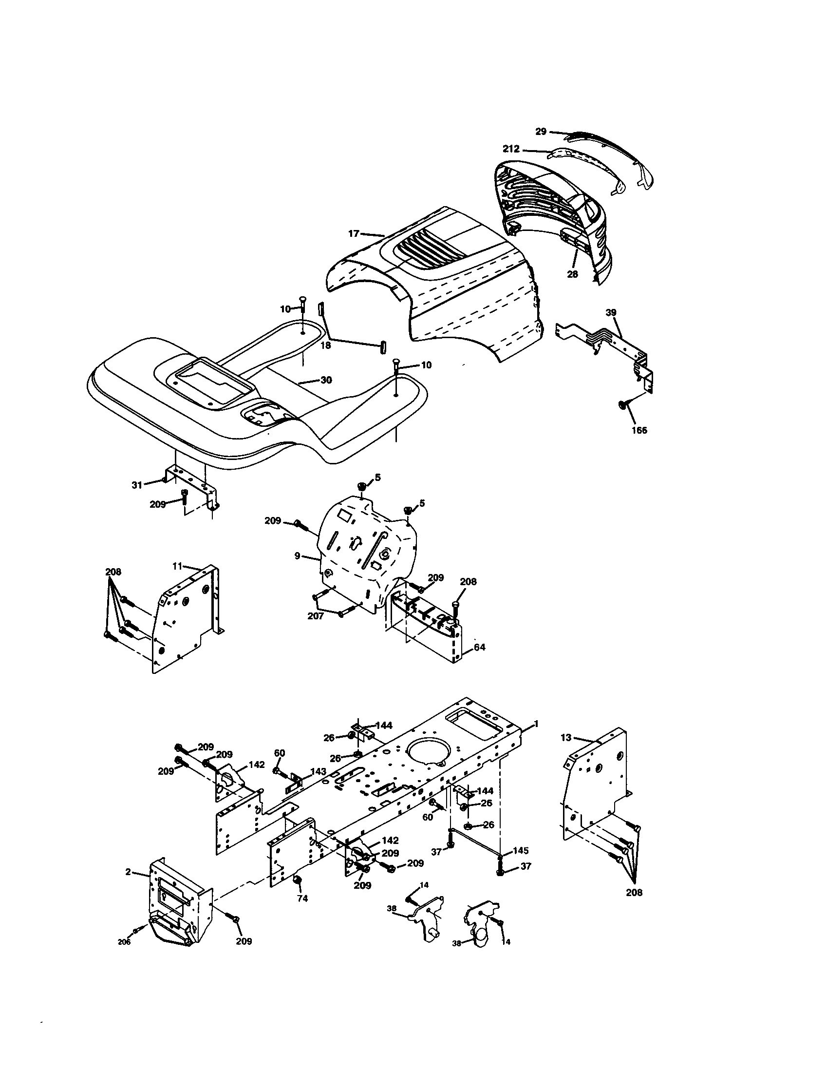 Craftsman 917278041 chassis and enclosures diagram